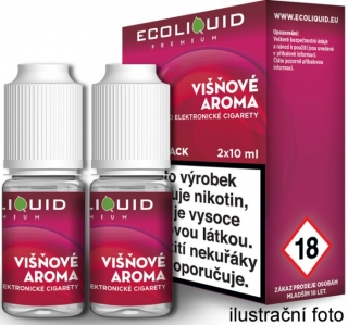 Liquid Ecoliquid Premium 2Pack Cherry 2x10ml - 0mg (Višeň)