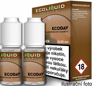 Liquid Ecoliquid Premium 2Pack ECODAV 2x10ml - 0mg
