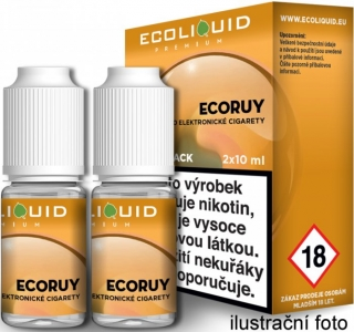 Liquid Ecoliquid Premium 2Pack ECORUY 2x10ml - 0mg