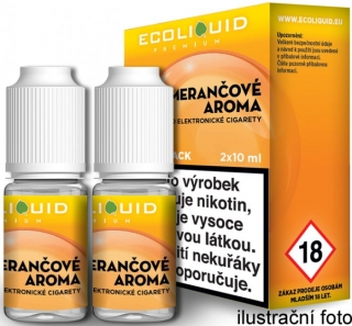 Liquid Ecoliquid Premium 2Pack Orange 2x10ml - 0mg (Pomeranč)