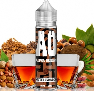 Příchuť Alpha Origins Shake and Vape 15ml Nutty Tobacco