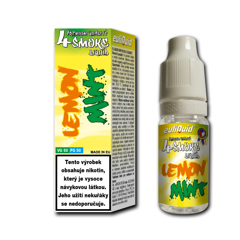 Euliquid Smoke VG50/PG50 Citrón a máta 10ml 0mg